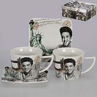 Элвис Чайные чашки с блюдцами Patricia на 2 персоны 220 мл