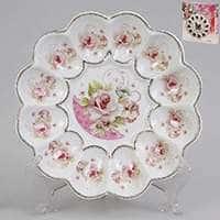 Тарелка для яиц Patricia с цветочным принтом 20 см