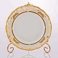 Симфония Золотая Набор тарелок Weimar Porzellan 17 см