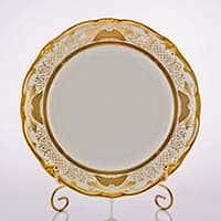 Симфония Золотая Набор тарелок Weimar Porzellan 24 см