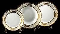 Симфония Золотая Набор тарелок для сервировки Weimar porzellan