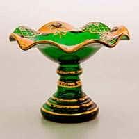Ваза для конфет Лепка зеленая 18 см