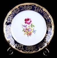 Санкт Петербург Кобальт Набор тарелок Weimar Porzellan 19 см