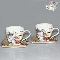 Набор чайный из фарфора Patricia 4 предмета 220 мл