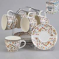 Набор чайный Patricia 12 предметов 240 мл на металлической подставке