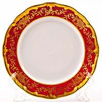 Ювел красный Набор тарелок Weimar Porzellan 15 см