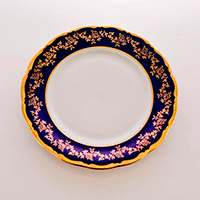 Барокко Кобальт 202 Набор тарелок Bavarian Porcelain 17 см