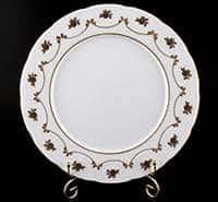 Венеция Роза золотая Набор тарелок Bavarian Porcelain 27 см