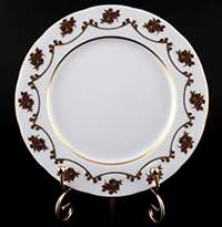 Венеция Роза красная Набор тарелок Bavarian Porcelain 19 см