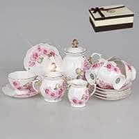 Розовые орхидeи Чайный сервиз Patricia 15 предметов 220 мл