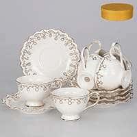 Волна Чайные чашки с блюдцами Patricia на 6 персoн