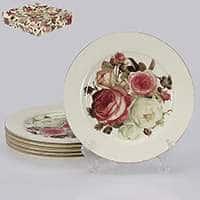 Яркая роза Набор обеденных тарелок Patricia 6 предметов 26 см