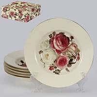 Яркая роза Набор суповых тарелок Patricia 6 предметов 22,5 см