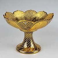Фруктовница с золотом и стразами 35 см Империал