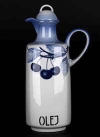 Вишни Бутылка из фарфора для масла Thun