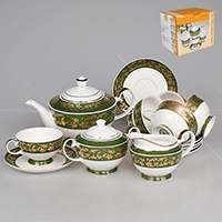 Бекар с золотым декором Чайный сервиз Patricia на 6 персон 17 предметов