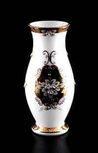 Ваза для цветов Лепка белая 35 см