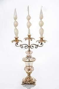 Подсвечник Франко из латуни на 3 свечи