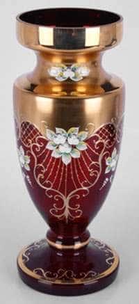 Ваза для цветов Лепка красная 40 см Potochka