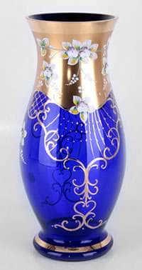Ваза для цветов Лепка синяя 35 см