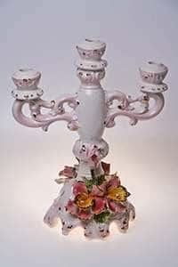 Цветы Подсвечник Devis из керамики на 3 свечи