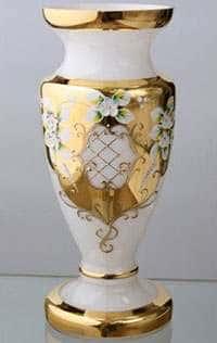 Ваза для цветов Кубок Лепка белая 50 см