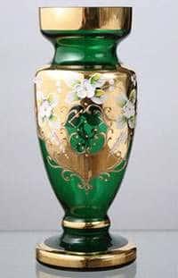 Ваза для цветов Кубок Лепка зеленая 50 см