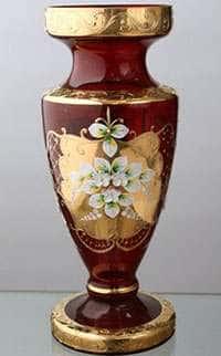 Ваза для цветов Кубок Лепка красная 50 см