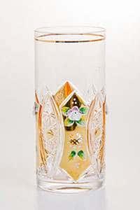 Хрусталь с золотом Набор стаканов для воды Acrystal 380 мл