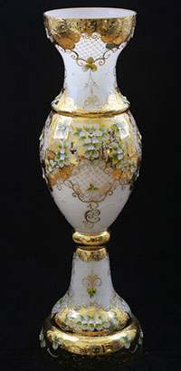 Ваза для цветов Кубок Лепка белая 70 см