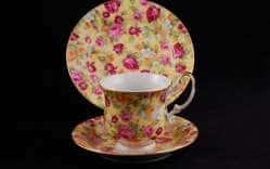 Моника Яркие цветы Сервиз чайный для завтрака 3предм.