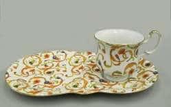 Сервиз чайный для завтрака Моника Цветочный узор